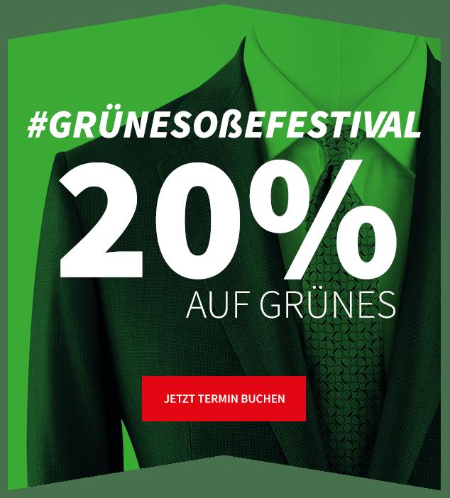 Aktion zum grüne soße Festival